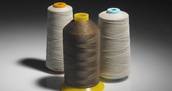 PTFE coated fiber -glass sewing thread