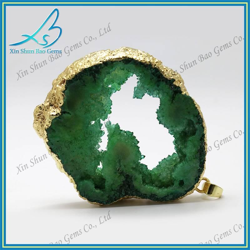 Big size cool fashion agate geode slice pendant