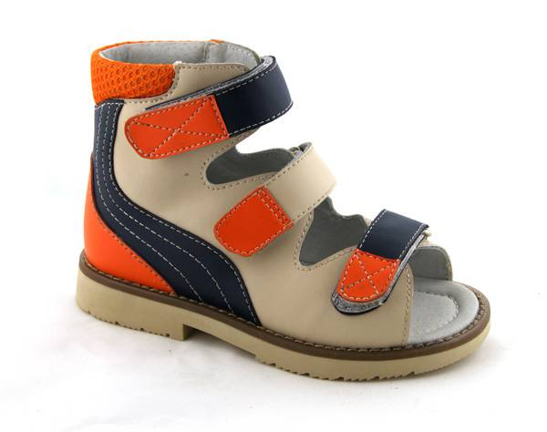 Kids Orthopedic Anti-varus Thomas Heel Leather Footwear 4811357