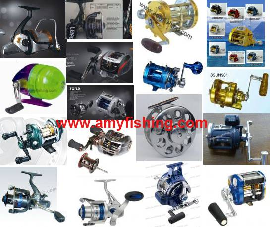 fishing reel, big game reel, trolling reel, spinning reel, baitcasting reel, spincasting reel, fly r