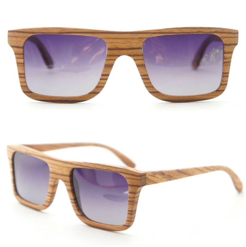Luxury wooden&bamboo sunglasses Polarized lenses P043