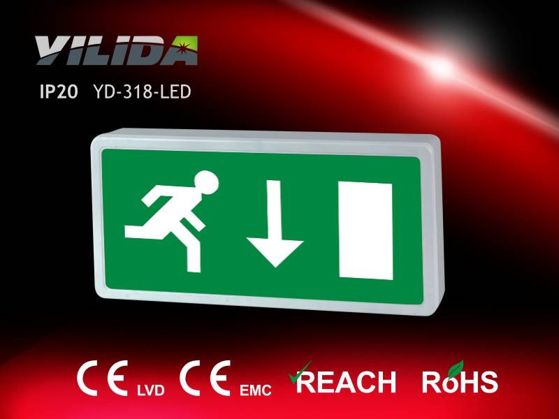 Hot sell IP20 full plastic exit sign, exit light, exit indicator