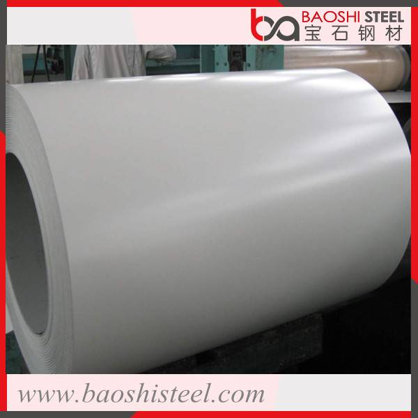 Fade resistant color coated steel coil for construction