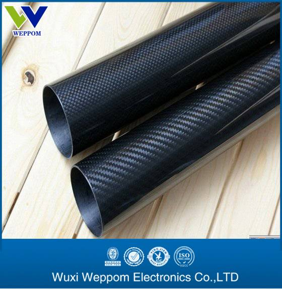 3k twill surface hollow carbon fiber tube