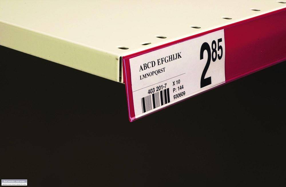 Price Label Holder with Tape