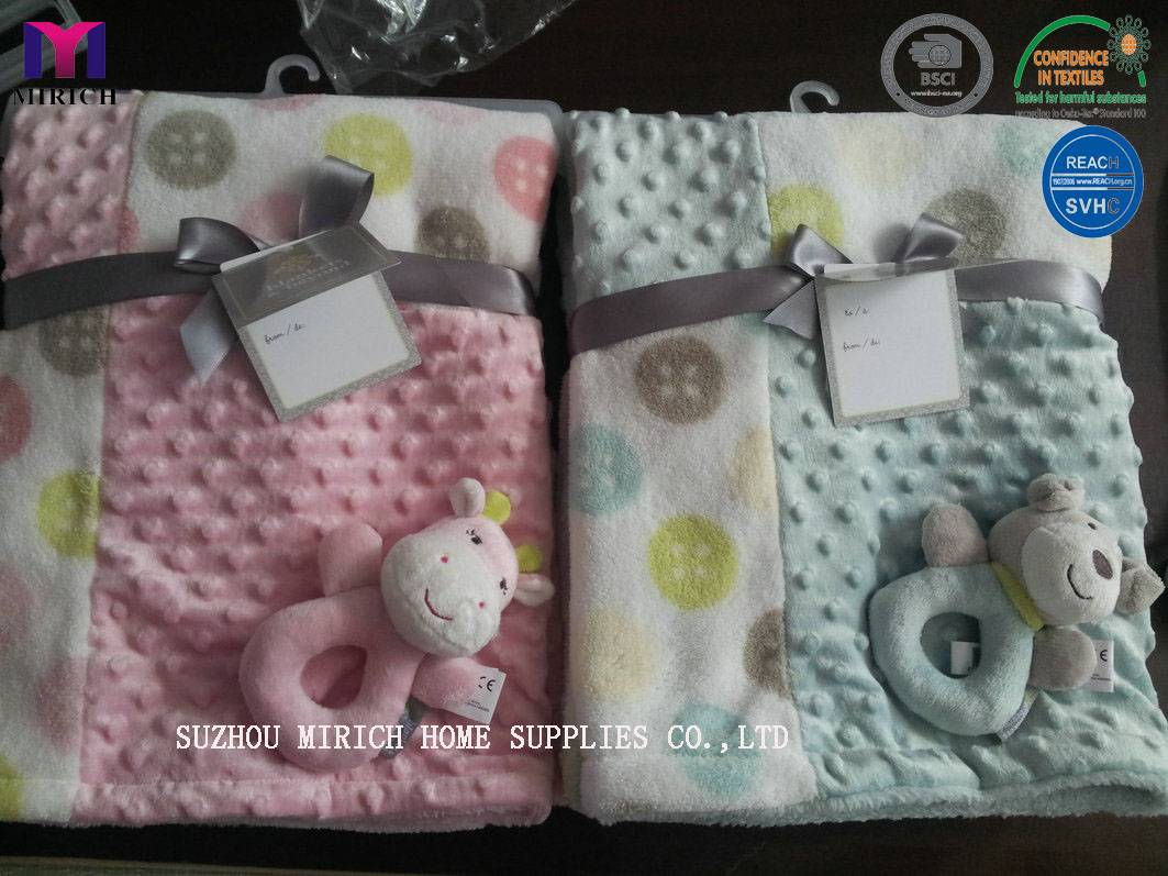 Factory Made Pathwork Design Applique Baby Toy Blanket