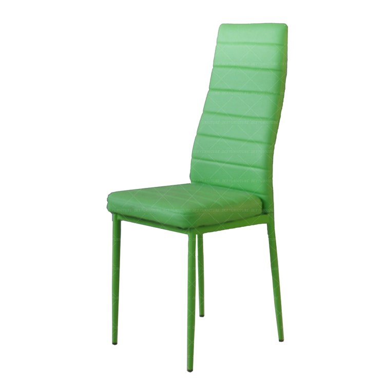 colorful pu leather side chair, factory dining room chair