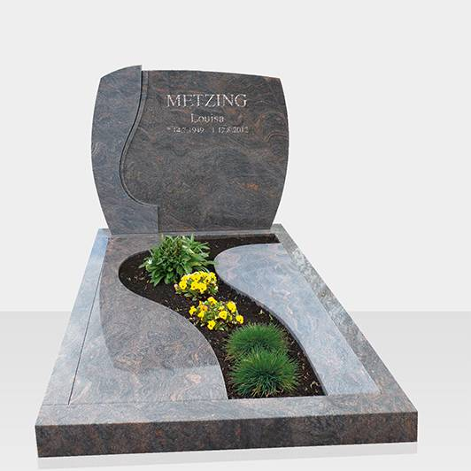 European headstone granite monument