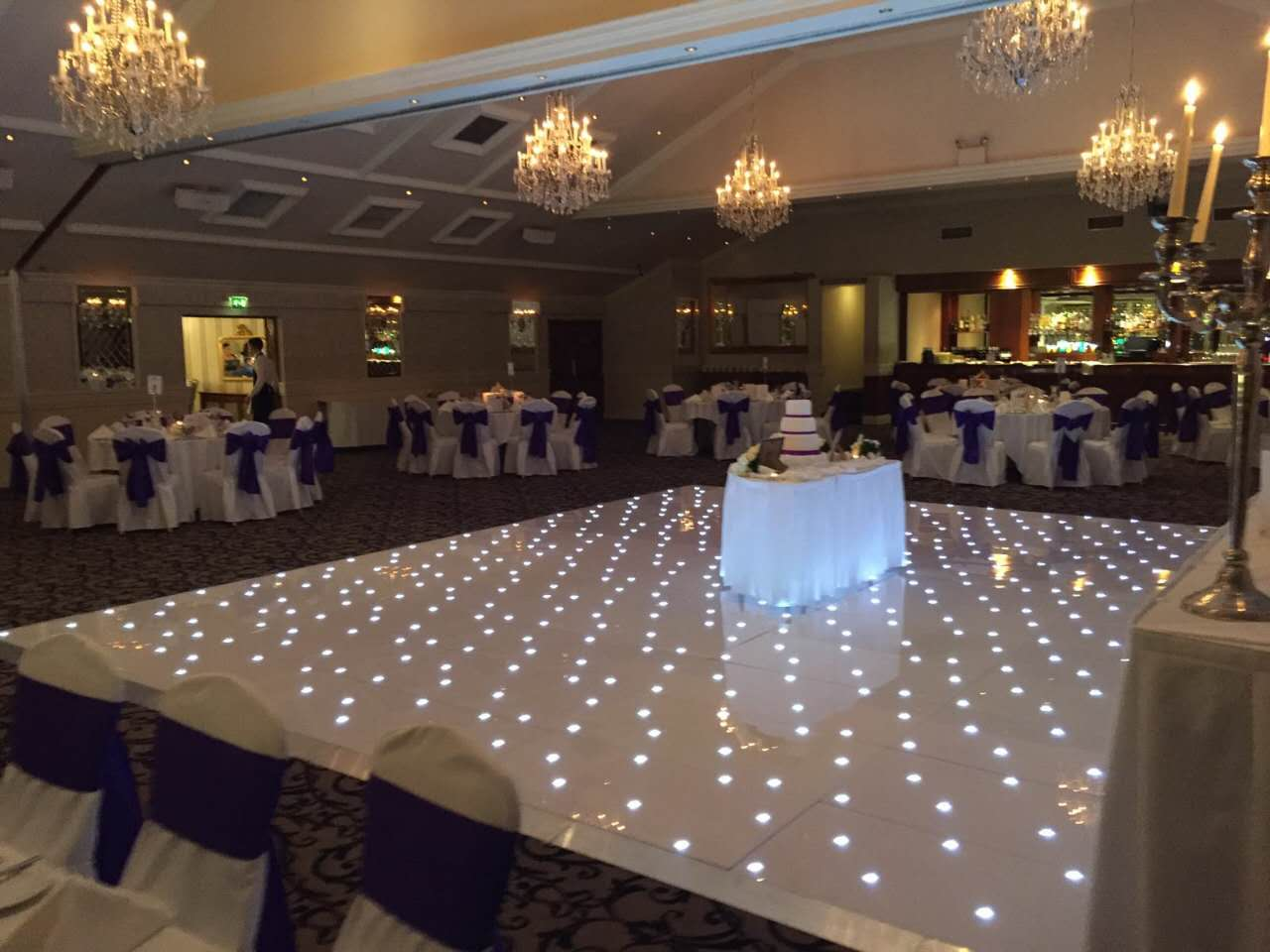 Homeilight 14x14ft light acylic lighting panel starlit dance floor for wedding
