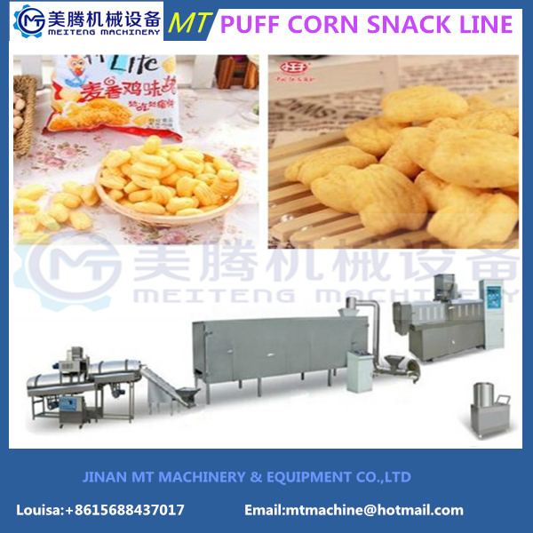 2017 Hot Sale Fully Automatic Corn Snack Food Equipment