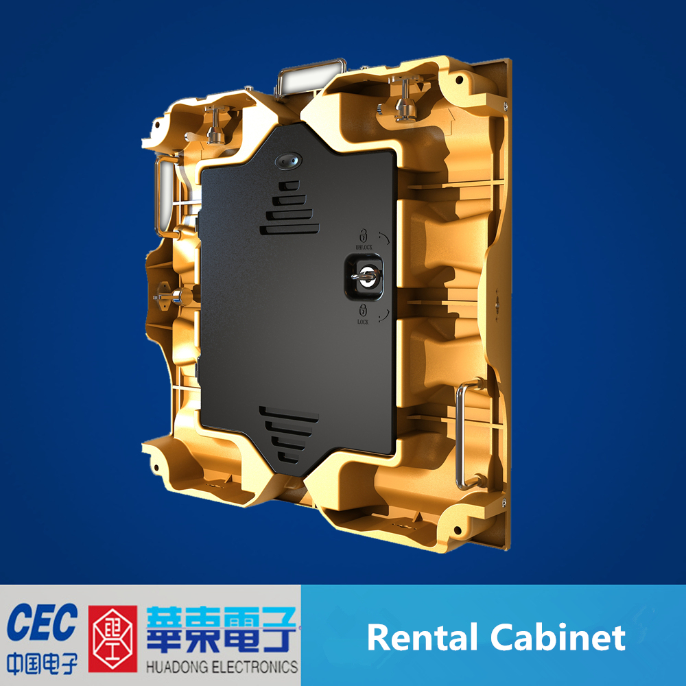 Mg Alloy die casting cabinet led display, rental led display