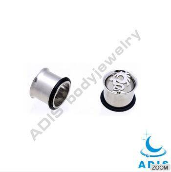 Single Flared Tunnel  Ear Plug Piercing Jewelry