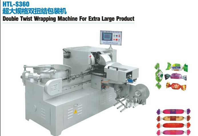 Double Twist Wrapping Machine For Extra Large Product