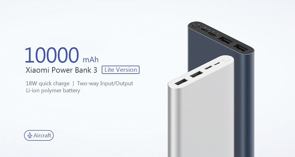 10000mAh Mi 18W Fast Charge Power Bank 3 (Black)