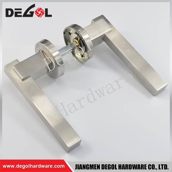 Cheap stainless steel solid lever type hot sale door handle in dubai