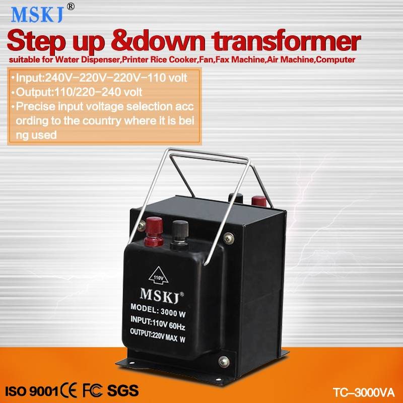 TC series 2000W step up and down transformers