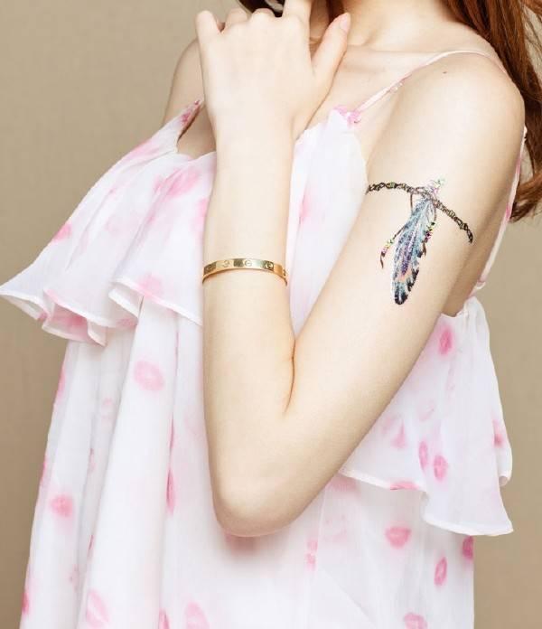 Fashionable Temporary Arm Art Tattoo Sticker