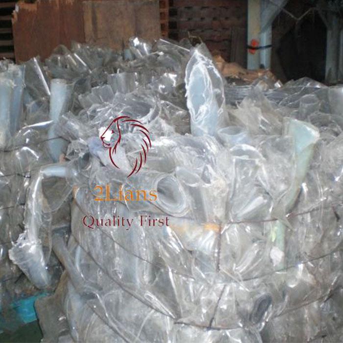 Soft PVC transparent on bales plastis srcap
