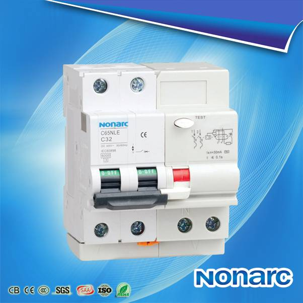 Nonarc c65 elcb earth leakage circuit breaker NOR136C