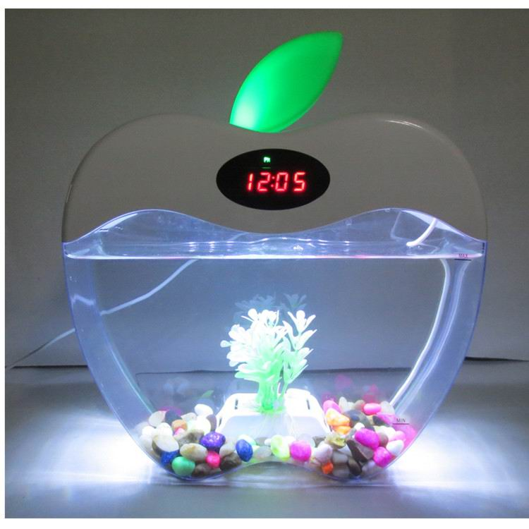 KangWei KW2015A Digital clock mutual colors LED light office table five star aquarium fish tank