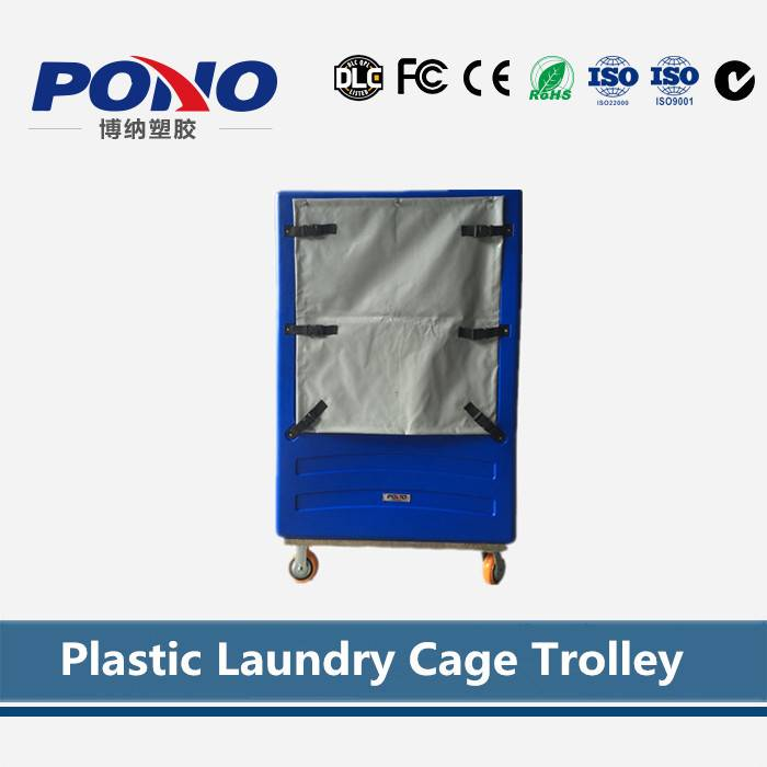 high quality laundry cage trolley for cloth collection,popular in hotel and laundry center
