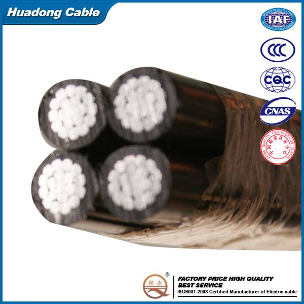 ABC CABLE Quadruplex with ACSR neutral-messenger OVERHEAD CABLE