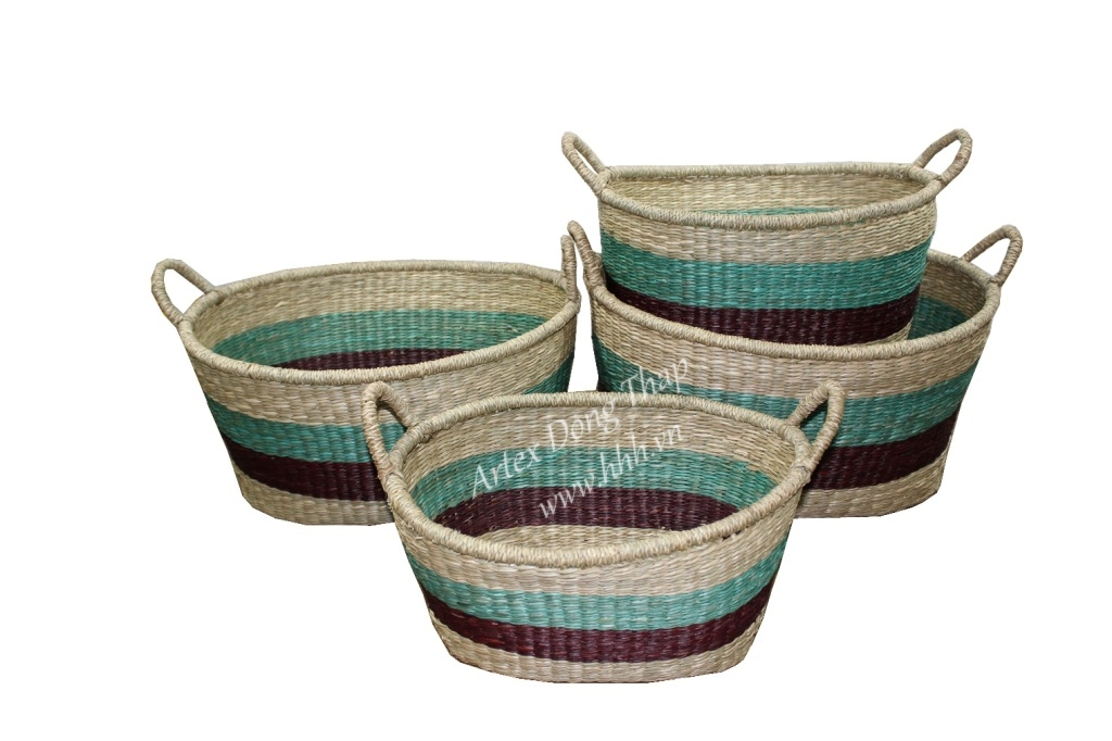 New Product For Home Decoration And Furniture, seagrass baskets-BH2948A-4MC