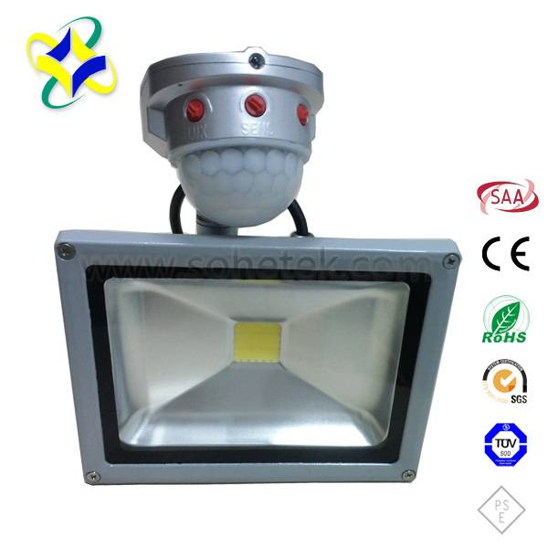 30W LED Floodlight with Sensor IP65 CE RoHS SAA Approval