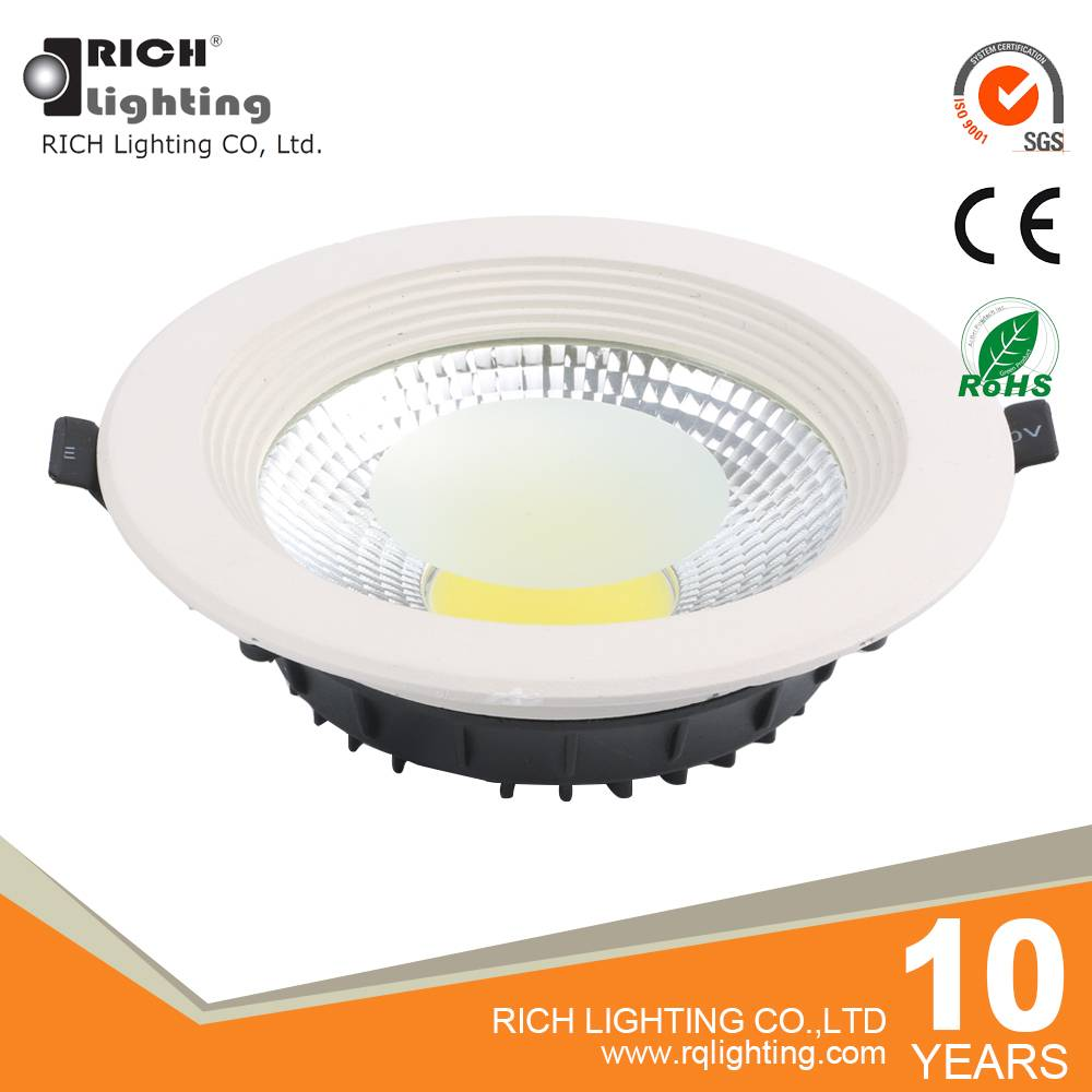 1050 lumen high lighitng cob LED dimmable downlight 15w