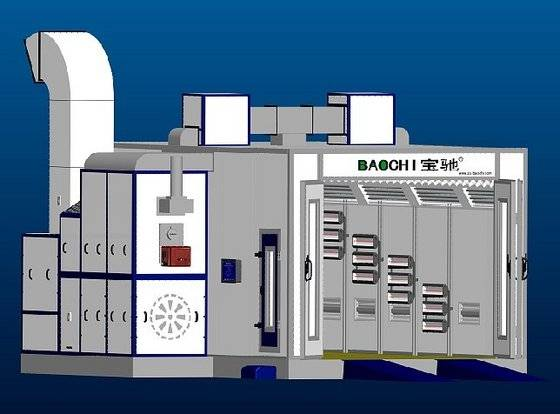 Baochi spray booth (BC-768S,oil, gas, electric heated three in one)