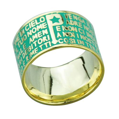 2015 Manli the newest style Natural Green Bible Rings