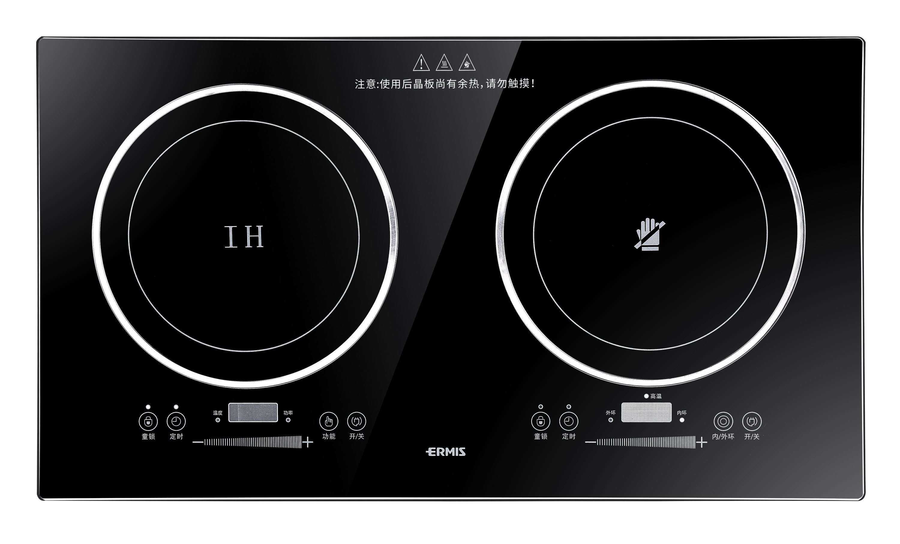 3500W double burner commercial induction cooker