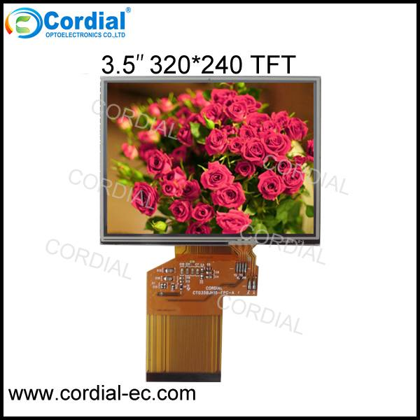 3.5 inch 320x240 TFT LCD MODULE with resistive touch screen CT035PJH15