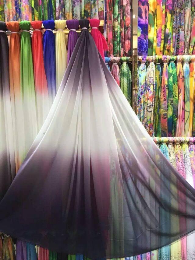 Multi color printing color pattern geometric surface soft cashmere through Korean Floral Chiffon dre