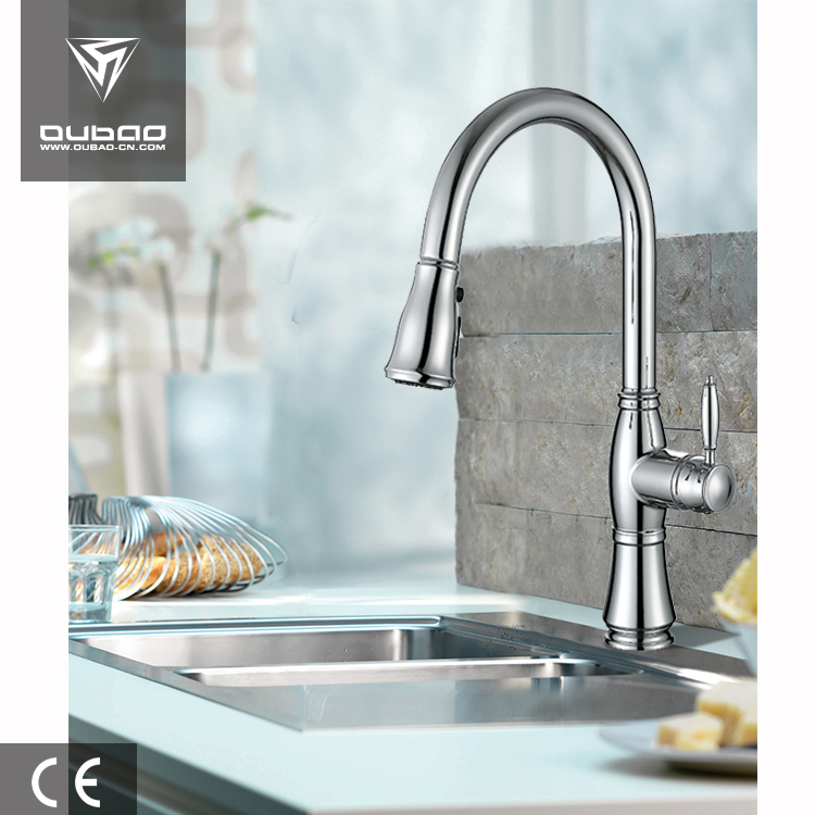 Factory Outlets Kitchen Taps Kitchen Faucet in Chrome OB-D48