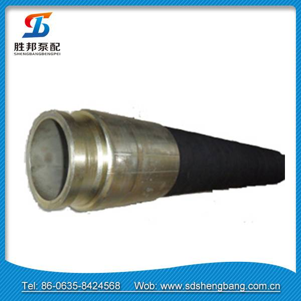 """PM 5"""" concrete pump hose with fabric insert both fitting"""