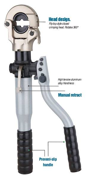 6.Hydraulic crimping tool Safety system inside HT-300