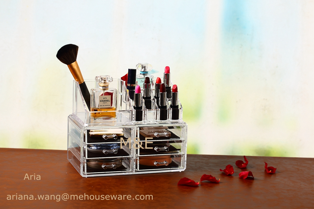 Wholesale Acrylic Makeup Organzier With 6 Drawer and Top