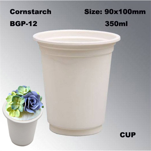 High Quality Disposable Cornstarch Tableware Cup 12oz