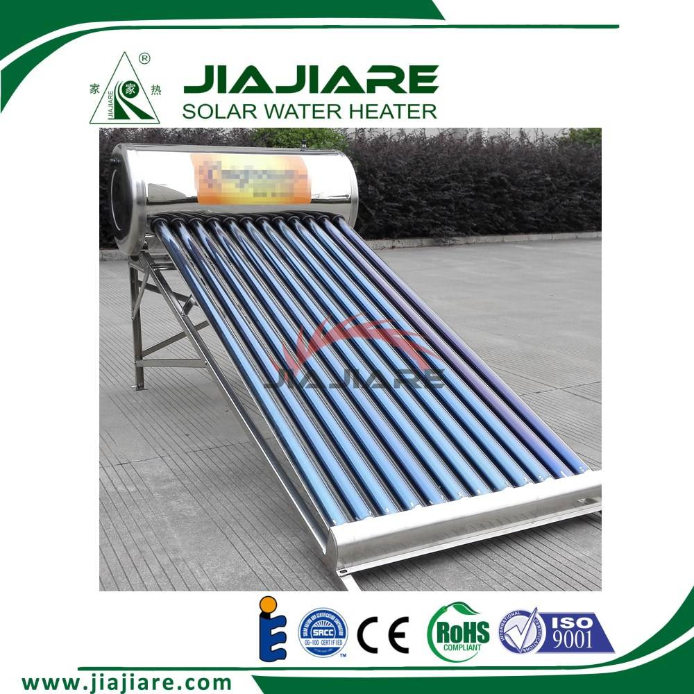 Stainless steel unpressurized solar water heater to Mexico