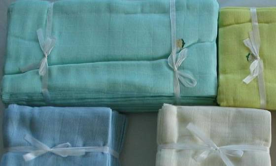 100% Bamboo or Organic Cotton Washable Gauze Diaper