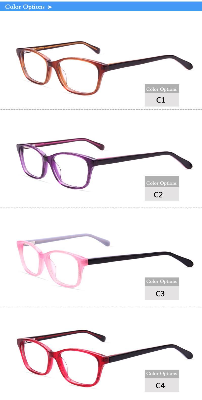 Fashion design acetate eyeglass optical frame JC9011 ready in stock