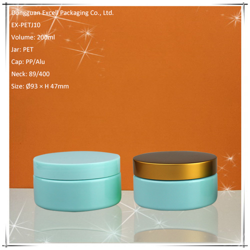 200ml Wide Mouth Cosmetic PET Packaging Jar