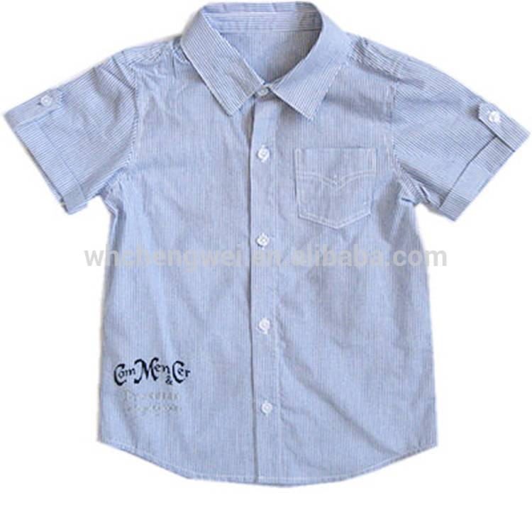 2016 Latest style 100% cotton short sleeve children clothes