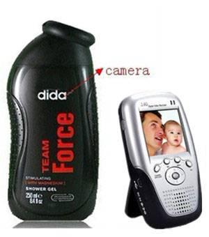 Hidden Bath Foam bathroom Spy Camera DVR Support SD card capacity up to 32GB