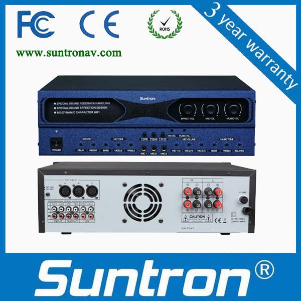 SUNTRON X2P Series No Howling Preset Processor Power Amplifier