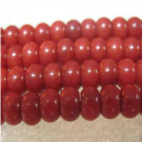16 inches 6-7mm Red Abacus Shaped Natural Loose Coral Beads