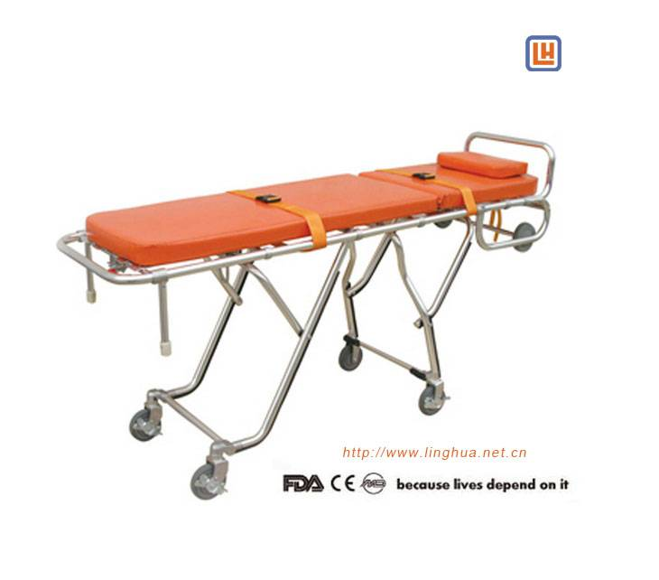 Funeral Stretcher Mortuary Cot with fold-able Trolley