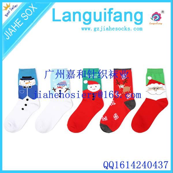 Fashionable Custom Logo Christmas Decoration Sock