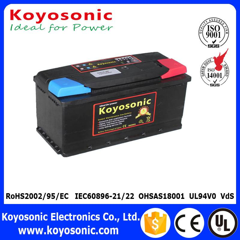 DIN Standard 12V 100AH Sealed Lead Acid Maintenance Free Car Battery With Good Quality